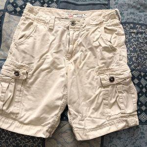 White American eagle cargo shorts